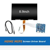 2560x1600 8,9 дюйма ЖК дисплей Экран Дисплей с HDMI MIPI доски водителя комплект для DIY для Wanhao Дубликатор 7 DLP SLA 3D принтеры VR Стекло