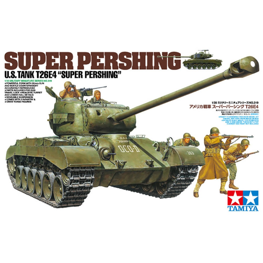 OHS Tamiya 35319 1/35 Super Pershing US Tank T26E4 Military Assembly AFV Model Building Kits oh hot sale orb water tap waterfall brass basin faucet