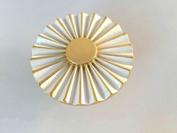 Morden Zinc Alloy White And Gold Cabinet C C 32mm Drawer Pull Handle