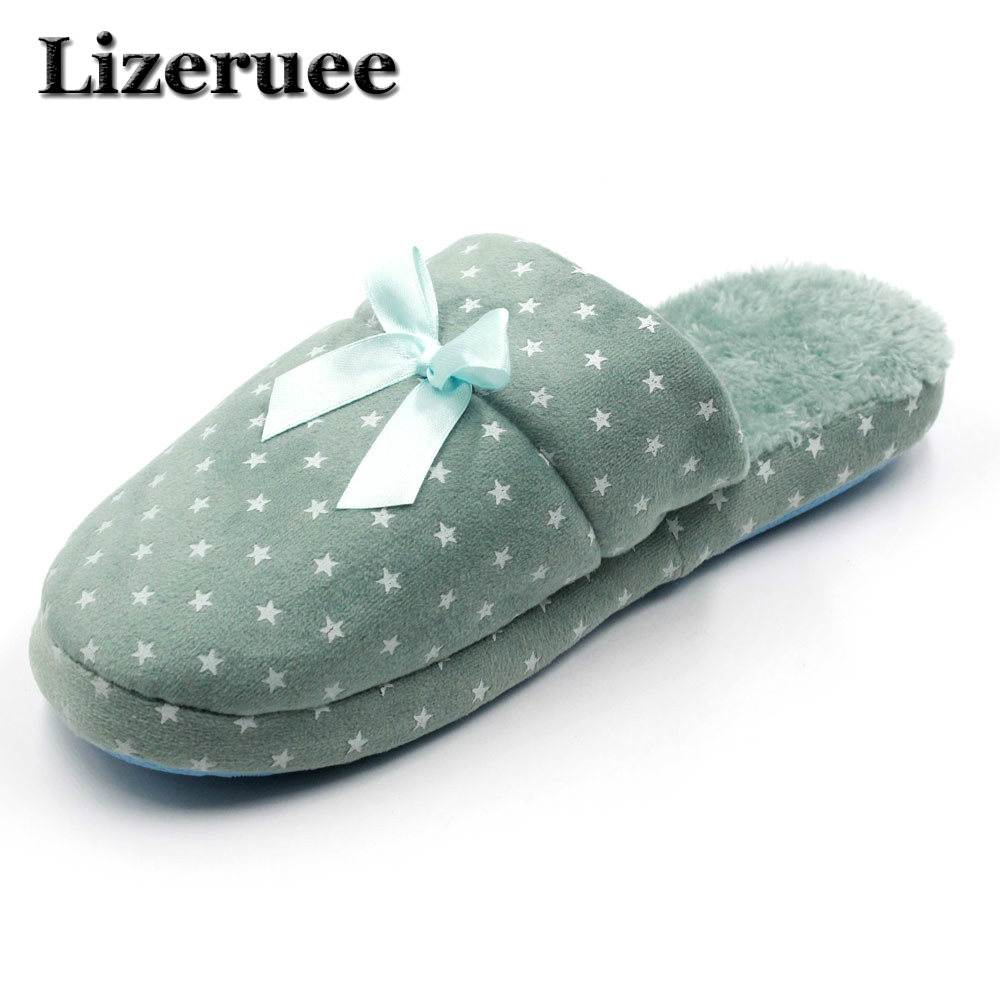 indoor slippers women home slippers warm shoes woman Bedroom Winter Slipper Cartoon Bowtie Floor Home Flax Shoes HS319 women floral home slippers cartoon flower home shoes non slip soft hemp slippers indoor bedroom loves couple floor shoes