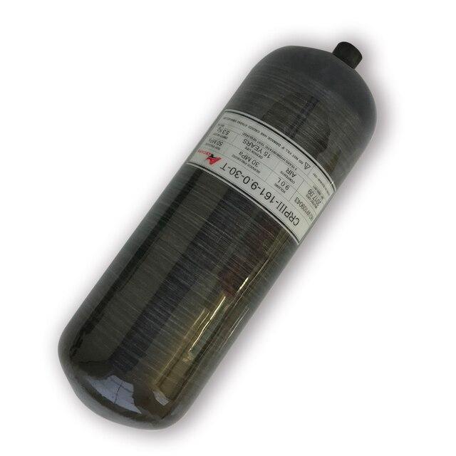 Ac3090 acecare 새로운 9l 4500psi 300bar 최신 paintball/pcp/hpa 탱크 드롭 쇼핑을위한 복합 co2 탄소 섬유 가스 실린더