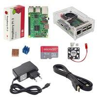 UK RS Raspberry Pi 3 Model B Acrylic Case Fan 2 5A Power Adapter 1 5M