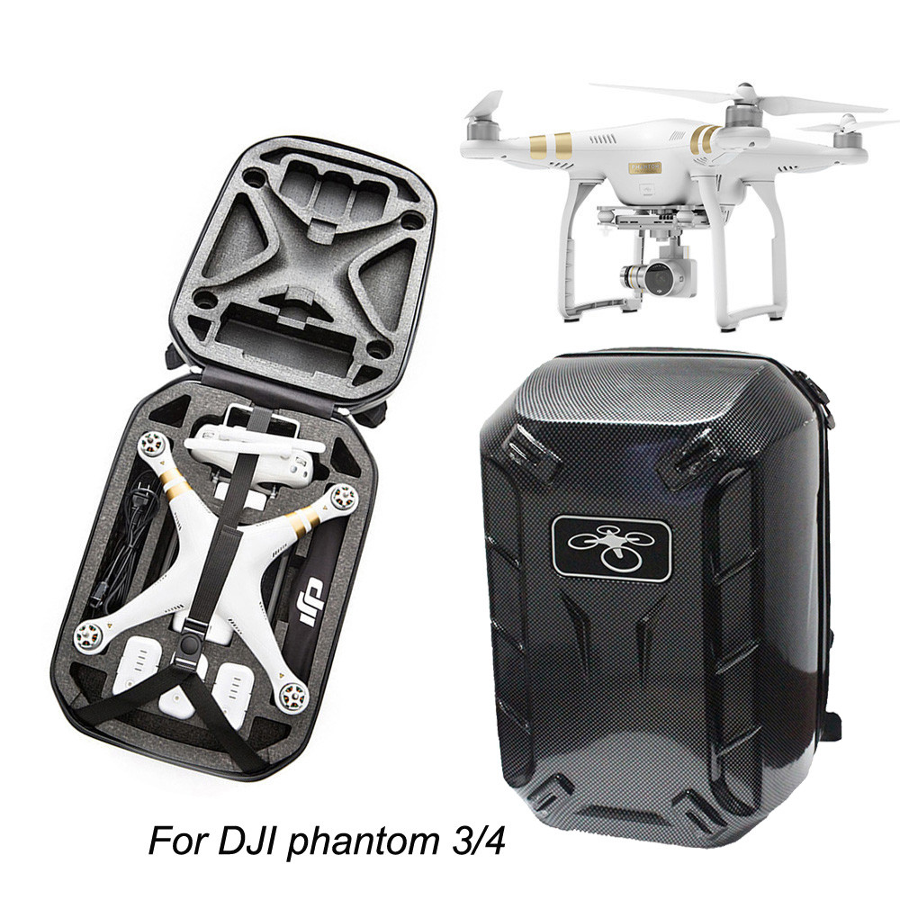 DATA NEW ! Best Price ! Backpack Hardshell CarryinG Case Bag box Hard Shell Waterproof for DJI Phantom 4 & 3 top quality mar23  2017 new arrival waterproof backpack bag shoulder hard shell case for dji phantom 3 quadcopter free shipping