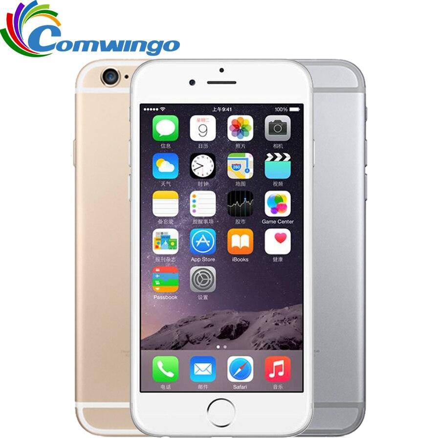 Apple iPhone desbloqueado Telefones Celulares 6 1GB RAM 16/64/128GB de ROM 4.7 'IPS GSM WCDMA 4G LTE mobile phone iPhone6 Usado Telefone Celular