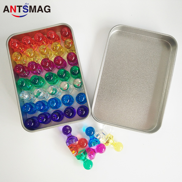 60 Magnetic Push Pins Ideal for Office Whiteboard Home Refrigerator Maps Notes