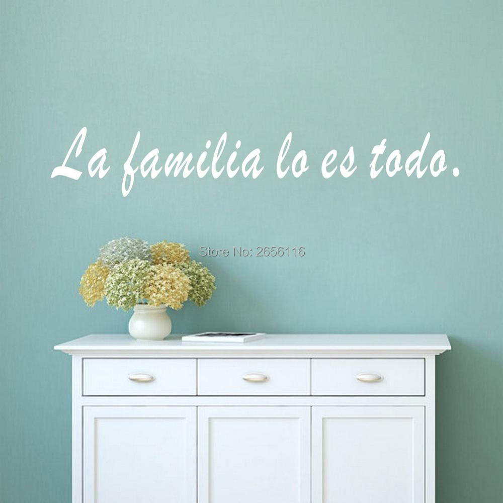 Spanish Quotes La Familia Lo Es Todo Wall Sticker Family Is Everything Wall Decals Livin ...