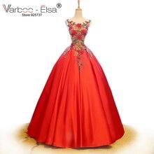 VARBOO_ELSA Bride Dress 2018 Satin Ball Gown Wedding Dress