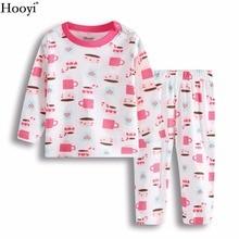 Hooyi/Коллекция года, новые комплекты одежды для сна для маленьких девочек пижамы для младенцев розовые комплекты для сна из хлопка для новорожденных детская одежда для дома на возраст от 3 до 24 месяцев