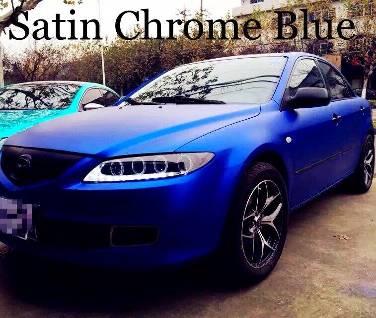 Matte Blue Car >> Us 185 25 5 Off Metallic Matte Blue Vinyl Wrap With Air Channle Metal Blue Matt Wrap Film Car Wrap Styling Foil 1 52 20m Roll 5ftx66ft On