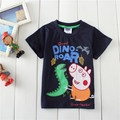 Free Shipping Children Clothes Baby Kids Girls Boys Cartoon Pig Tops T-shirt Age 3-6 Years