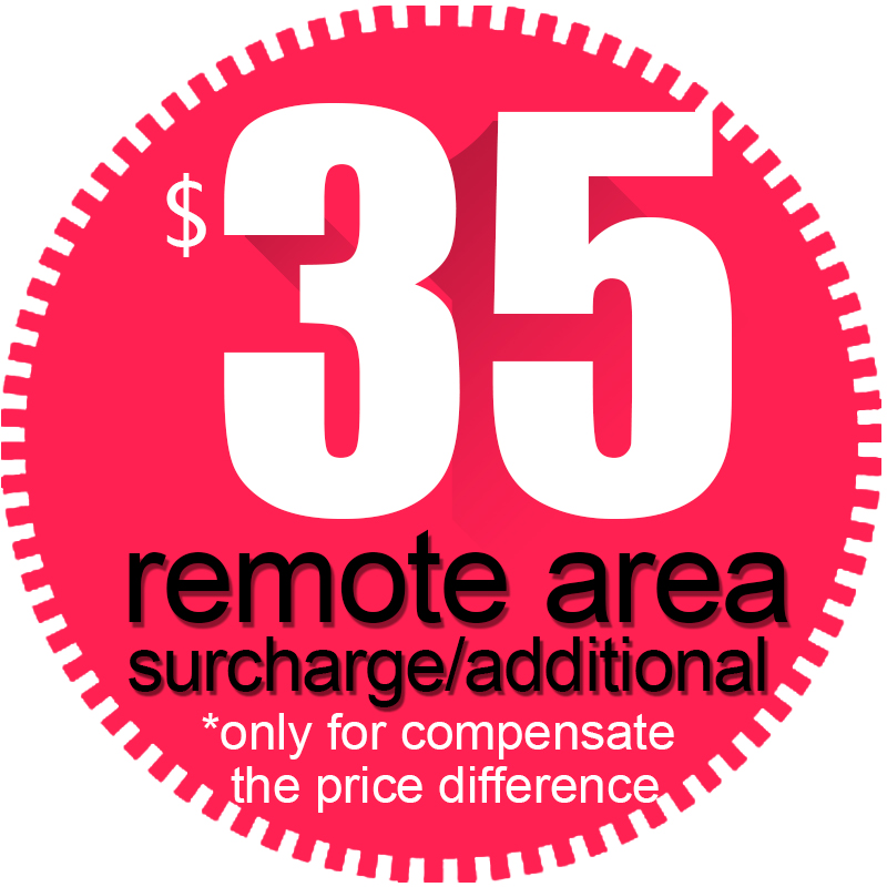 Fill the courier freight remote area surcharge/ additional  (do no sell alone, only freight difference) do no harm