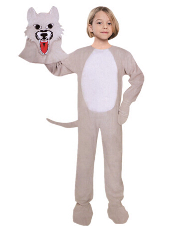 kids cosplay wolf halloween clothes actor stage costumes ds nightclub clothes role playchina - Wolf Halloween Costume Kids