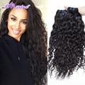 Brazilian Virgin Hair Water Wave 4 Bundles Unprocessed Brazilian Ocean Wave Brazilian Hair Weave Bundles Curly Rosa Hair Product