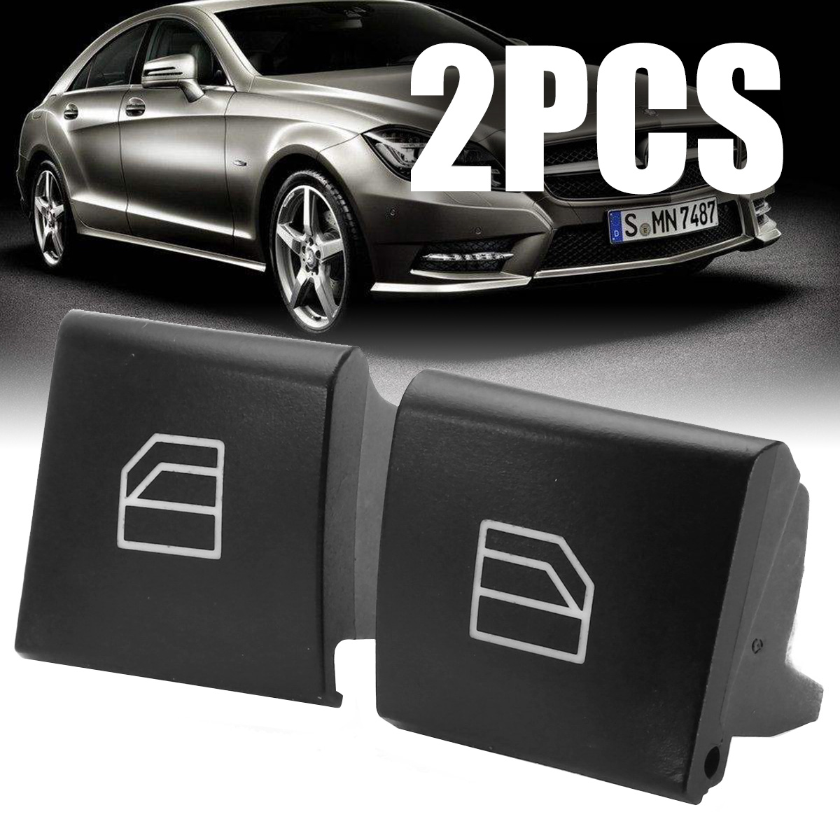 1Pair Automobile Window Switch Car Driver Repair Button Cap Control For Mercedes ML GL R Class W164 X164 W251