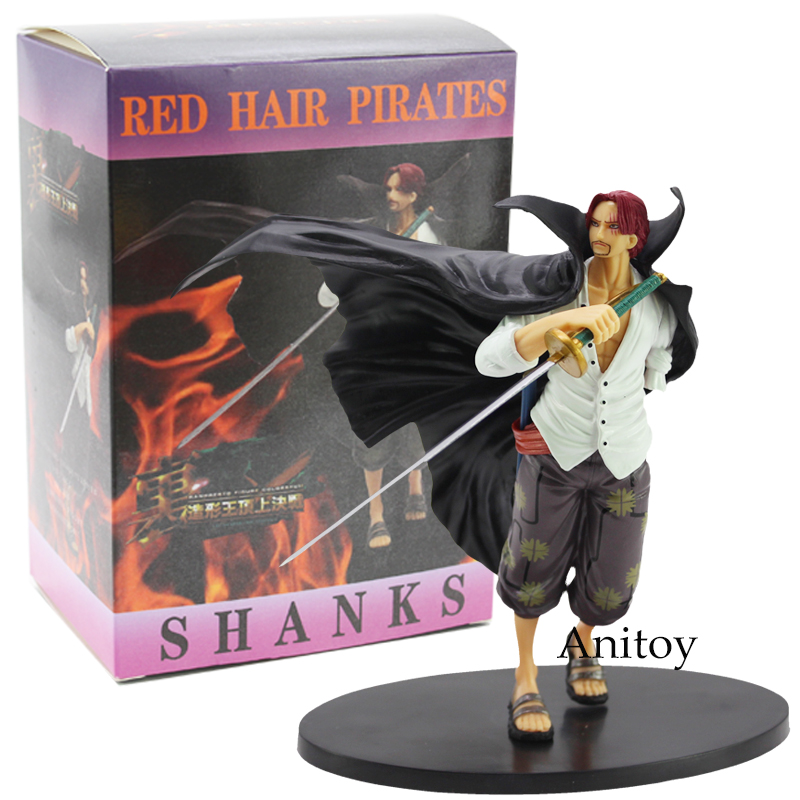 Anime One Piece Branpresto Figure Colosseum Red Hair Pirate Shanks PVC Figure Collectible Model Toy