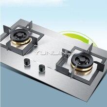 Хо использовать держать газовую плиту Встроенный и настольный Тип двойного назначения газовая плита из нержавеющей стали с двойной горелкой газовая печь JZT-GZ451