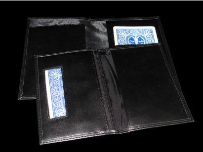 Nouveau portefeuille d'assurance (carte dans portefeuille) gros plan tours de magie portefeuille magique comédie rue Gimmick accessoires magiques Illusion