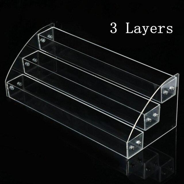 Acrylic Clear Nail Polish Varnish Display Stand Rack Holder Jewelry Lipstick Display Organizer Storage Box Nail Art Equipment