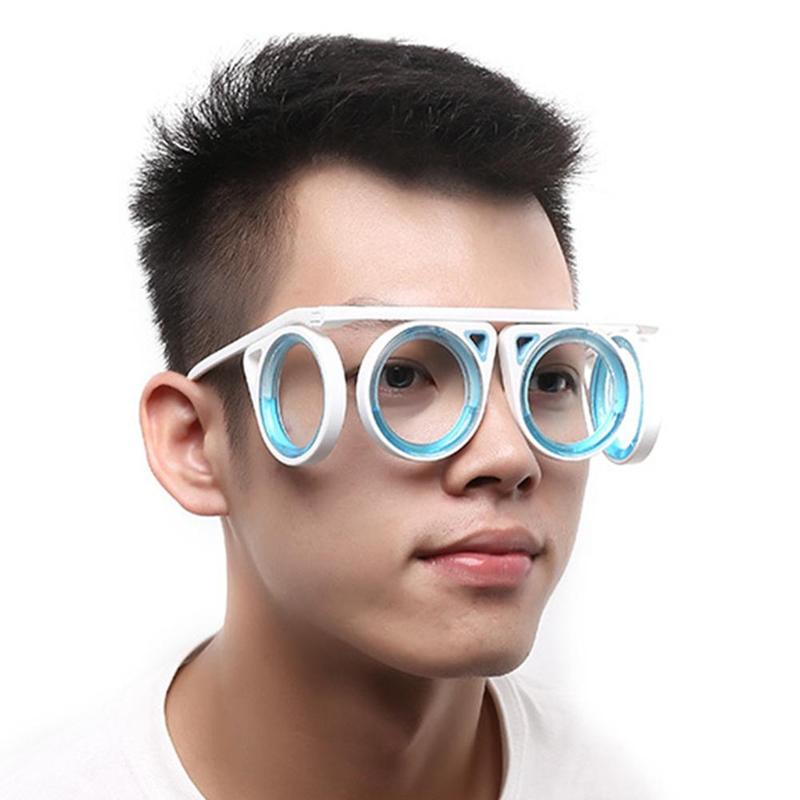 2019 Portable Anti-motion Sickness Glasses Smart Seasick Airsick Liquid Lens-free Removable Folding Lensless Protection Eyewear