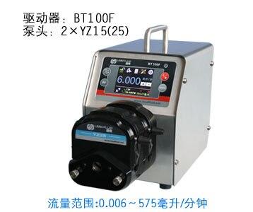 BT100F 2 x YZ25 Интеллектуальный Дозирующий перистальтический насос точный жидкий силиконовый трубный перистальтический насос 0,16 ~ 420 мл/мин. - 6