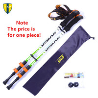 Ultra Light Adjustable Camping Hiking Walking Trekking Stick Alpenstock Carbon Fiber Shooting Climbing Skiing Trekking Pole