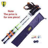 Ultra Light Adjustable Camping Hiking Walking Trekking Stick Alpenstock Carbon Fiber Shooting Climbing Skiing Trekking Pole