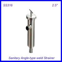 2.5 ''Санитарно Нержавеющаясталь ss316 угол типа сетчатый фильтр f пива/молочный/фармацевтическая/beverag/ химической промышленности