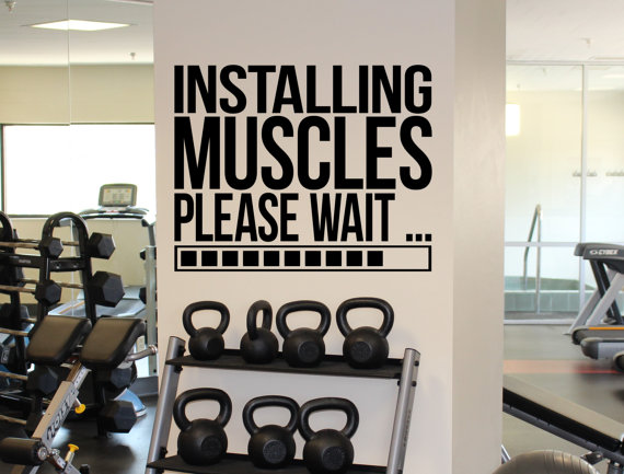 Online Buy Wholesale Fitness Quotes Wall Decals From China Fitness - How to put up wall decal