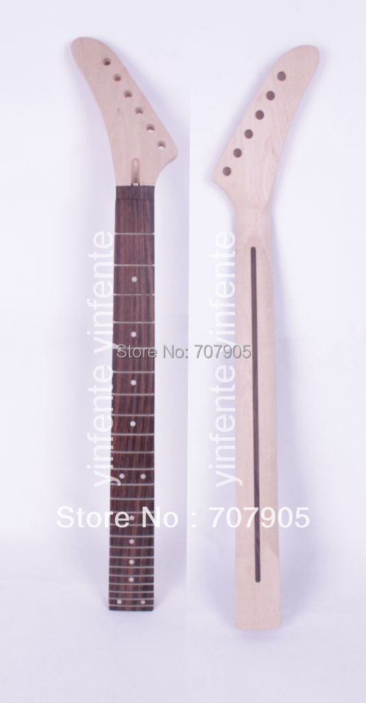 New Unfinished electric guitar neck Truss Rod 24 fret 25.5 Free shipping Dropshipping Wholesale 6pcs steel double truss rod for electric guitar luthier two way adjustment