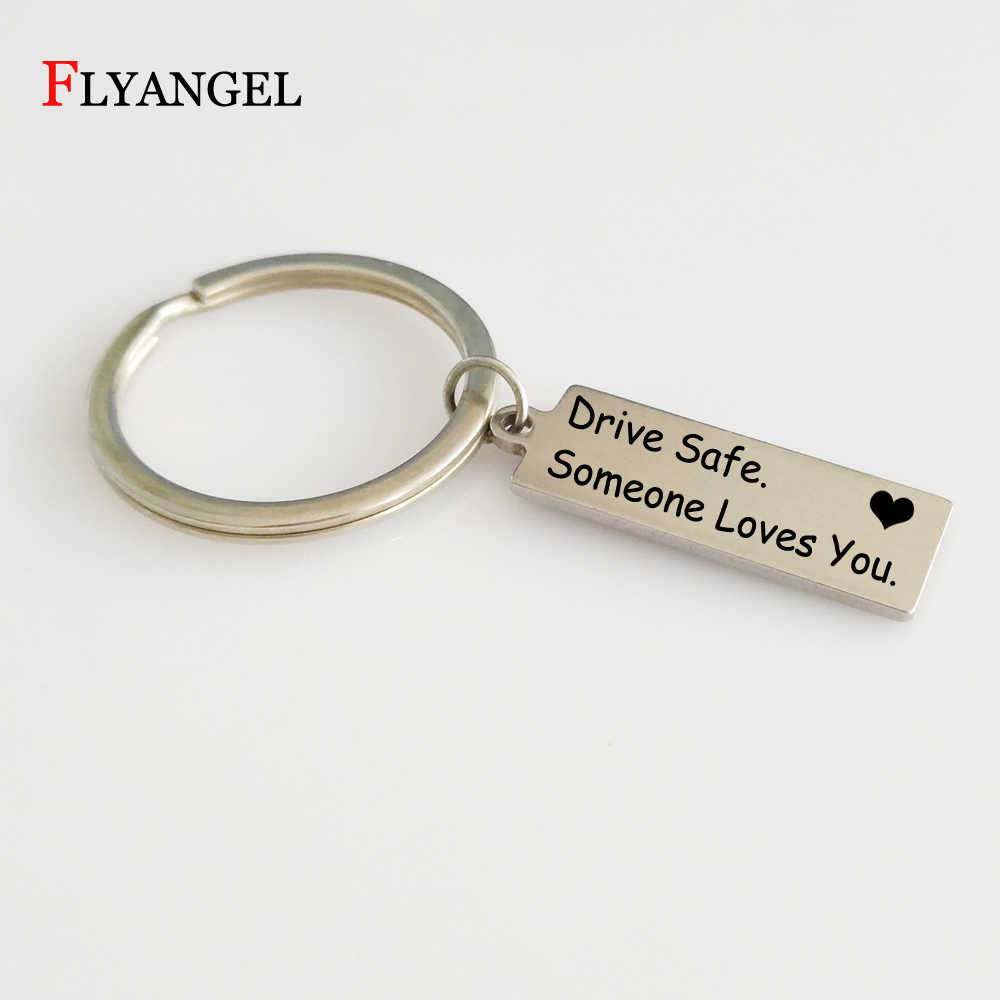 76ebe5c7f 1 Pc Hot Charming Keychain Fashion Letter Drive Safe Someone Loves You Car Key  Ring Gift