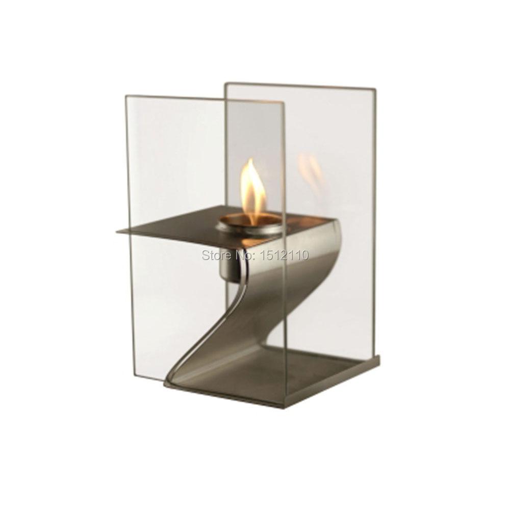 asesino de metal artesana de vidrio chimenea de bioetanol con metal para uso en interiores y