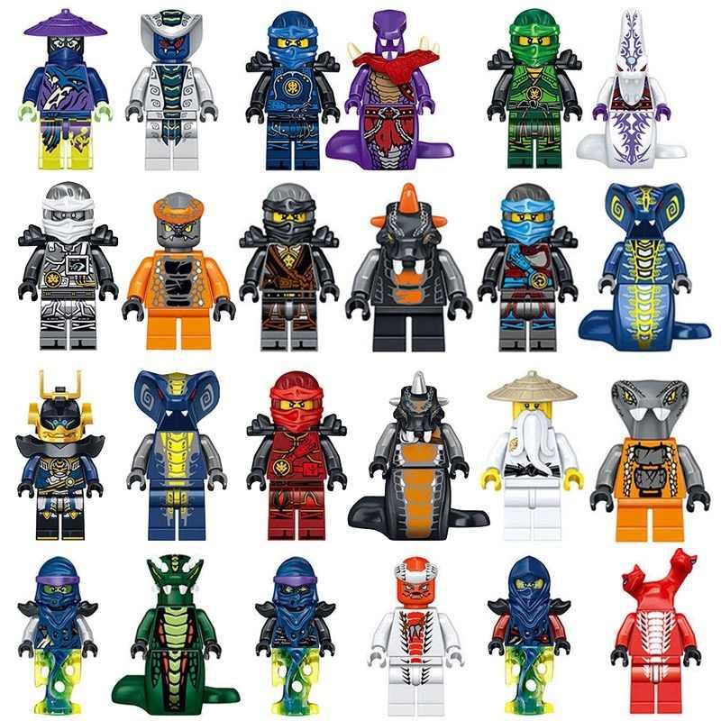 2018 Новый Ninjago SONS OF GARMADON цифры маски Wu Кай Джей Lloyd Cole Zane Jade принцесса с Книги об оружии Legoing строительные блоки