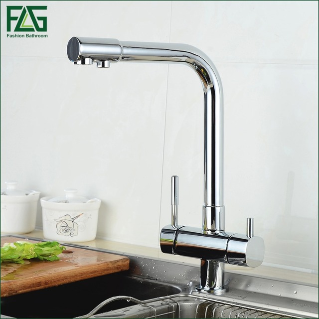 FLG Multiple Choices Water Purifier Faucet Chrome Finish 360 Degree  Rotating Dispenser Drink 3 Way Kitchen