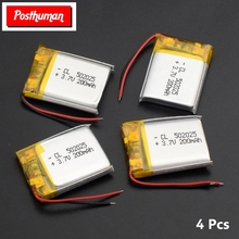 Lithium Li-Po Polymer Rechargeable Battery 502025 3.7V 200mAh Li-ion Battery Replacement li-ion Lipo cells For MP3 MP4 toys for tablet pc 7 inch mp3 mp4 [357095] 35mm 70mm 95mm 3 7v 4000mah polymer lithium ion battery li ion battery free shipping