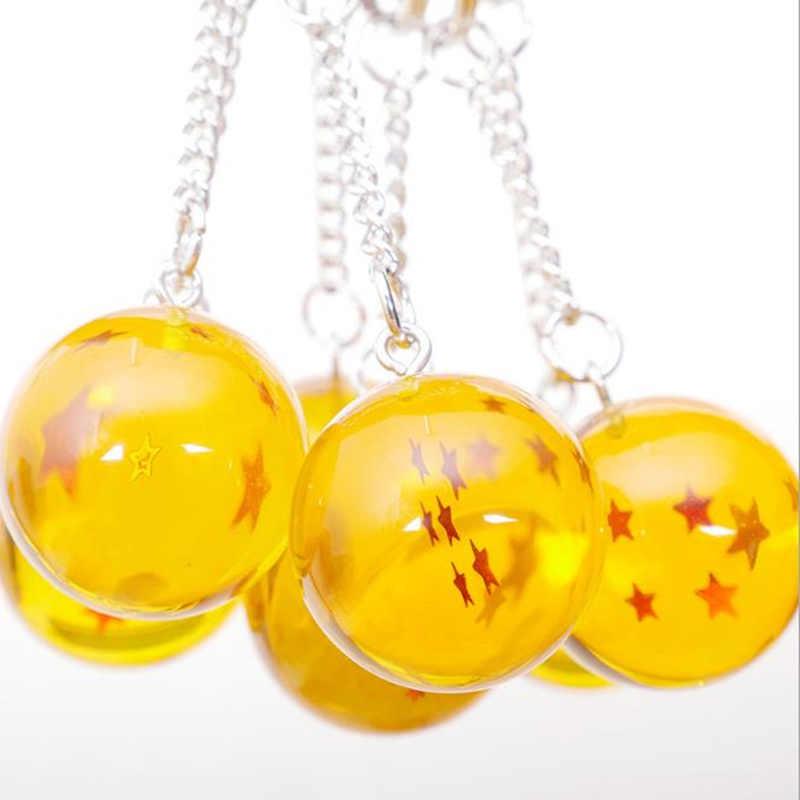 Anime Goku Dragon Ball Super Chaveiro Pingente encanto 3D 1-7 Estrelas Cosplay Bola De Cristal Chaveiro chave chians