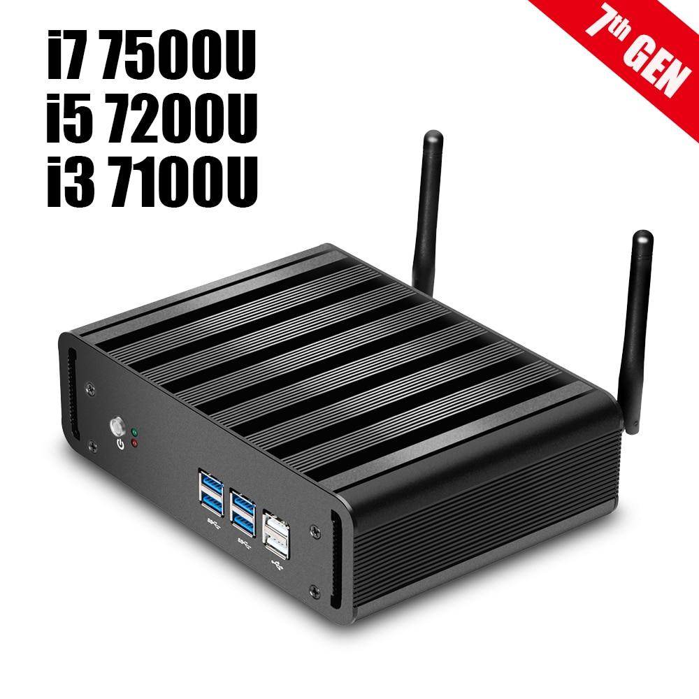 Newest 7th Gen Core i7 7500U i5 7200U i3 7100U Mini PC Windows 10 HTPC 8GB RAM DDR4 4K Ultra HD HDMI WiFi Nettop Gaming PC newest 7th gen core i7 7500u mini pc windows 10 htpc 8gb ram ddr4 320gb ssd fanless system 4k hdmi vga wifi nettop gaming pc