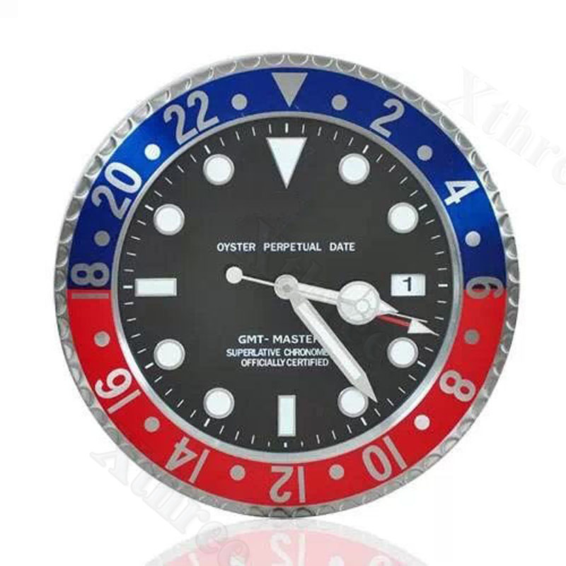 Luxury Modern Wall Clock Metal Watch Shape Wall Clocks for Home Decoration Antique Style Slient Clock