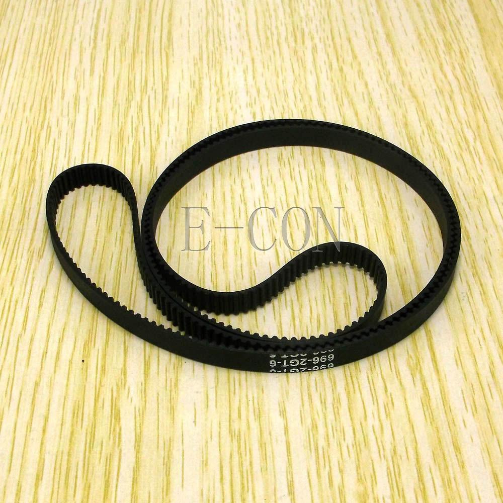 1pcs/lot 696-GT2 Loop Timing Belt Width 6mm GT2 Belt Rubber Fiberglass Inner Length 696mm 348 Teeth For GT2 Timing Pulley