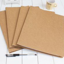 Крафт-папка, твердая папка для файлов, папка с зажимом A4, 2 отверстия, 235X315X10 мм, 5 шт. в упаковке