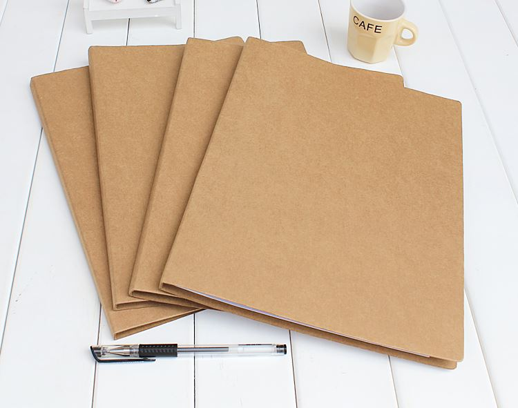 Kraft Folder Hard File Paper Folder Clip File A4 2 holes 235X315X10mm 5-pack  Кошелёк