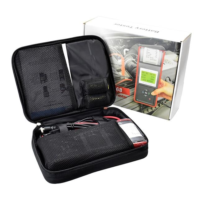 New Arrival Micro 568 12V Automotive Car Battery Tester MICRO 568 with Printer Diagnostic Battery CCA Diagnostic AutoTool Print