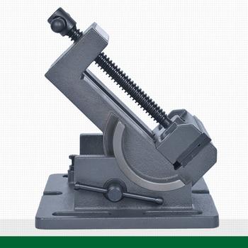 Tornillo de banco de fuerza Industrial de hierro fundido en ángulo de 4 pulgadas y presión de taladro Ajuste de tornillo de banco basculante de 0 a 90 grados