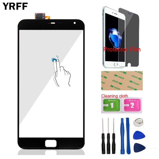 5.5'' Mobile Phone Touch Panel Front For Meizu MX4 Pro Touch Screen Digitizer Panel Glass Sensor Tools Protector Film Adhesive