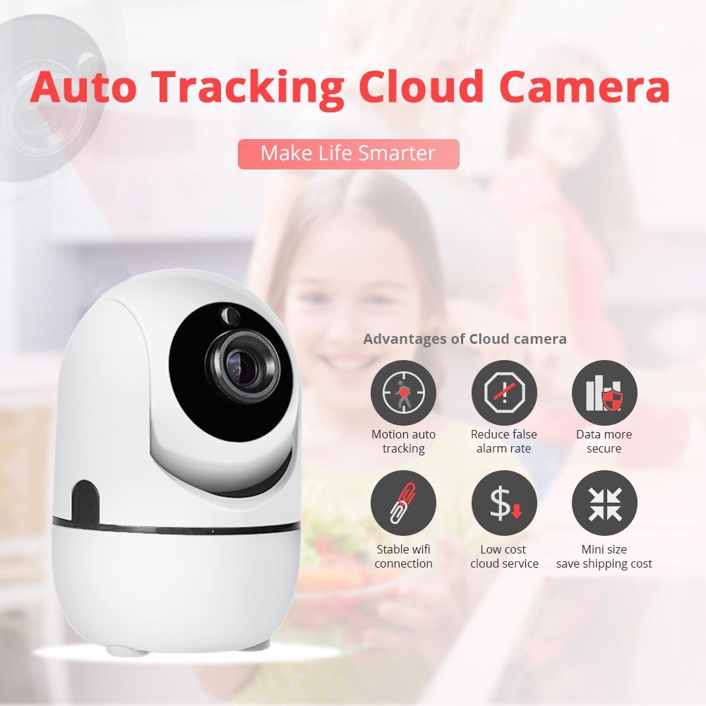 720P HD Mini Intelligent Surveillance Camera Home Security WiFi Network Cameras font b Night b font