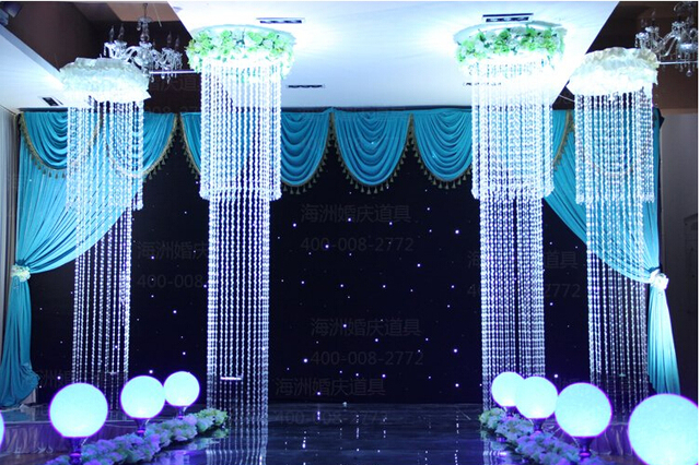 Hot sale wedding decoration the ceiling decoration crystal lamp hot sale wedding decoration the ceiling decoration crystal lamp stage background decorate crystal road guide 4pcs junglespirit Image collections