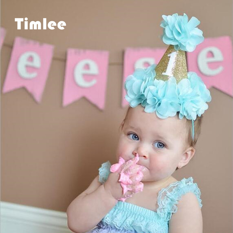 Timlee H052 Cute Princess Flower Hair Band Children Birthday Party Tiara Hair Accessary Gift