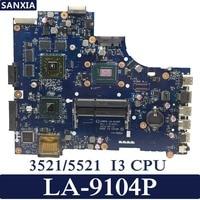 KEFU VAW00 LA 9104P Laptop motherboard for DELL 3521 5521 Test original mainboard I3 CPU PM