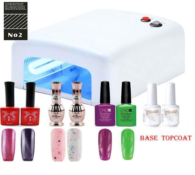 EM-130 High quality  Gel Polish CHEESE gel polish EYE CAT gel polish SET ,nail manicure nail tools ,uv gel with lamp 36W