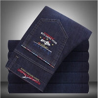 Shark Autumn New Italy Classic Blue Denim Pants Men Slim Fit Brand Trousers Male High Quality