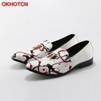 OKHOTCN 높은 품질 남성 패션 흰색